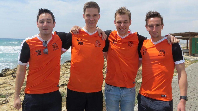 De Nederlandse delegatie v.l.n.r.: Jelle Besselsen, Martijn Kieft, Remon Tulen en Luuk Timmer.